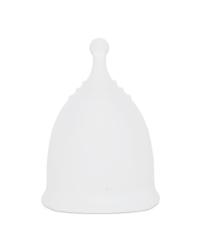 Белая менструальная чаша AneerCare с хвостиком «шар»