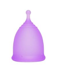 Фиолетовая менструальная чаша AneerCare с хвостиком «шар»