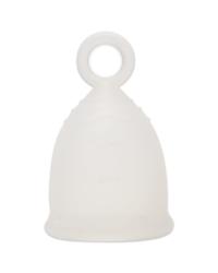 Белая менструальная чаша PrettyWoman с кольцом
