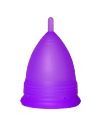 Фиолетовая менструальная чаша с коротким стеблем