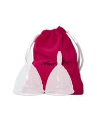 Набор прозрачных менструальных чаш AneerCare с мешочком